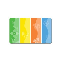 Floral Colorful Seasonal Banners Magnet (name Card)