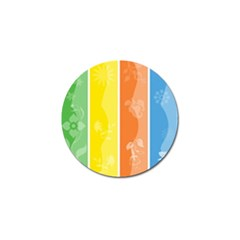 Floral Colorful Seasonal Banners Golf Ball Marker (10 Pack)