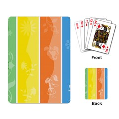 Floral Colorful Seasonal Banners Playing Card