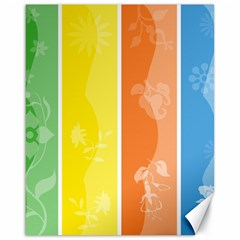 Floral Colorful Seasonal Banners Canvas 16  x 20
