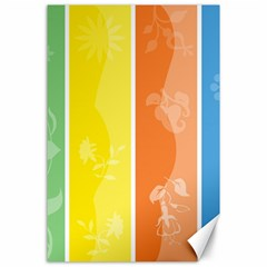 Floral Colorful Seasonal Banners Canvas 24  X 36