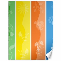 Floral Colorful Seasonal Banners Canvas 36  x 48