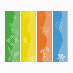 Floral Colorful Seasonal Banners Small Glasses Cloth (2 Side)