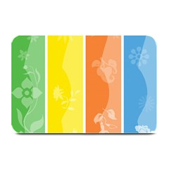 Floral Colorful Seasonal Banners Plate Mats