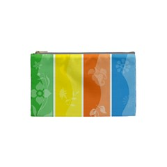 Floral Colorful Seasonal Banners Cosmetic Bag (Small)