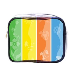 Floral Colorful Seasonal Banners Mini Toiletries Bags