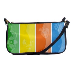 Floral Colorful Seasonal Banners Shoulder Clutch Bags