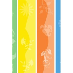 Floral Colorful Seasonal Banners 5.5  x 8.5  Notebooks