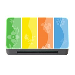 Floral Colorful Seasonal Banners Memory Card Reader With Cf