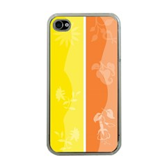 Floral Colorful Seasonal Banners Apple iPhone 4 Case (Clear)