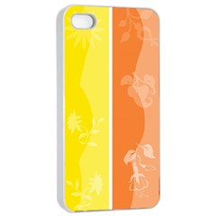 Floral Colorful Seasonal Banners Apple iPhone 4/4s Seamless Case (White)