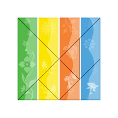 Floral Colorful Seasonal Banners Acrylic Tangram Puzzle (4  x 4 )