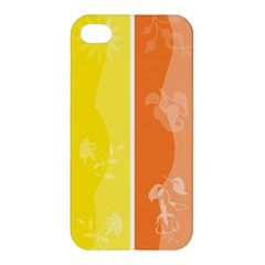 Floral Colorful Seasonal Banners Apple iPhone 4/4S Premium Hardshell Case