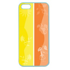 Floral Colorful Seasonal Banners Apple Seamless Iphone 5 Case (color)