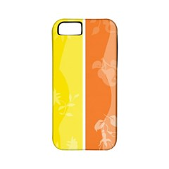 Floral Colorful Seasonal Banners Apple Iphone 5 Classic Hardshell Case (pc+silicone)