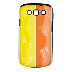 Floral Colorful Seasonal Banners Samsung Galaxy S Iii Classic Hardshell Case (pc+silicone)