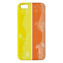 Floral Colorful Seasonal Banners Apple Iphone 5 Premium Hardshell Case