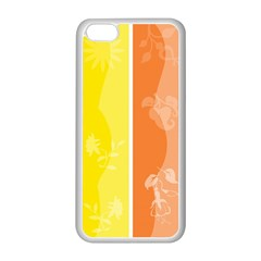 Floral Colorful Seasonal Banners Apple iPhone 5C Seamless Case (White)