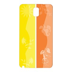 Floral Colorful Seasonal Banners Samsung Galaxy Note 3 N9005 Hardshell Back Case