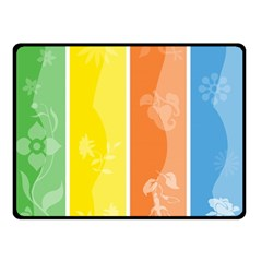 Floral Colorful Seasonal Banners Double Sided Fleece Blanket (small)