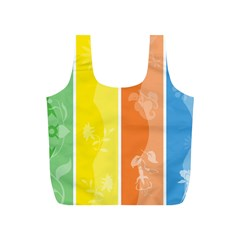 Floral Colorful Seasonal Banners Full Print Recycle Bags (S)