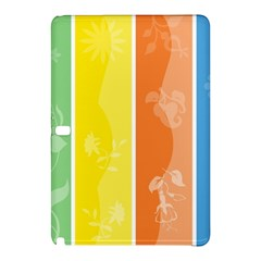 Floral Colorful Seasonal Banners Samsung Galaxy Tab Pro 10 1 Hardshell Case