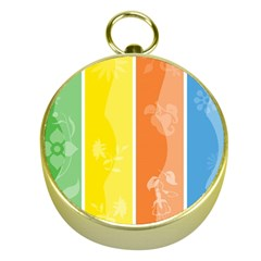 Floral Colorful Seasonal Banners Gold Compasses