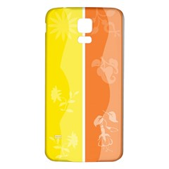 Floral Colorful Seasonal Banners Samsung Galaxy S5 Back Case (White)