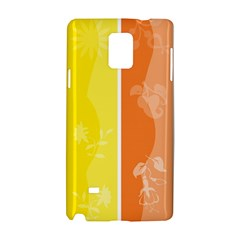 Floral Colorful Seasonal Banners Samsung Galaxy Note 4 Hardshell Case