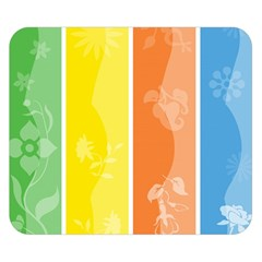 Floral Colorful Seasonal Banners Double Sided Flano Blanket (Small)