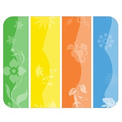 Floral Colorful Seasonal Banners Double Sided Flano Blanket (medium)