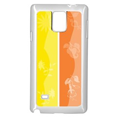 Floral Colorful Seasonal Banners Samsung Galaxy Note 4 Case (White)