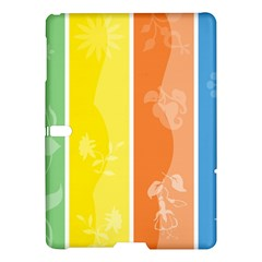 Floral Colorful Seasonal Banners Samsung Galaxy Tab S (10.5 ) Hardshell Case