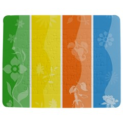 Floral Colorful Seasonal Banners Jigsaw Puzzle Photo Stand (Rectangular)
