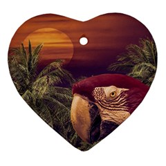 Tropical Style Collage Design Poster Ornament (Heart)