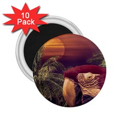 Tropical Style Collage Design Poster 2.25  Magnets (10 pack)