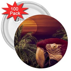 Tropical Style Collage Design Poster 3  Buttons (100 pack)