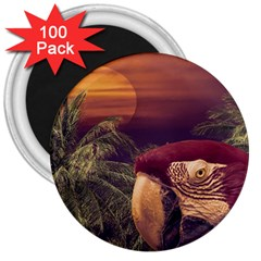 Tropical Style Collage Design Poster 3  Magnets (100 pack)