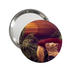 Tropical Style Collage Design Poster 2.25  Handbag Mirrors