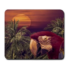 Tropical Style Collage Design Poster Large Mousepads