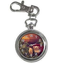 Tropical Style Collage Design Poster Key Chain Watches
