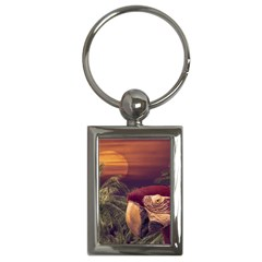 Tropical Style Collage Design Poster Key Chains (Rectangle)