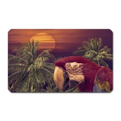 Tropical Style Collage Design Poster Magnet (rectangular)