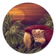 Tropical Style Collage Design Poster Magnet 5  (Round)
