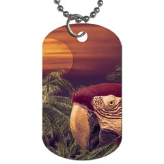 Tropical Style Collage Design Poster Dog Tag (One Side)