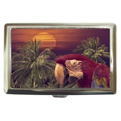 Tropical Style Collage Design Poster Cigarette Money Cases