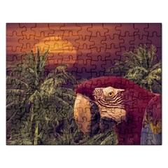 Tropical Style Collage Design Poster Rectangular Jigsaw Puzzl