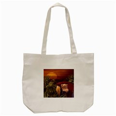 Tropical Style Collage Design Poster Tote Bag (Cream)