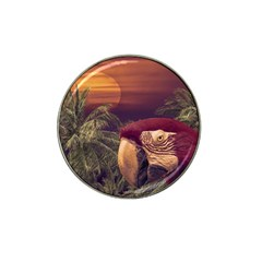 Tropical Style Collage Design Poster Hat Clip Ball Marker (4 pack)