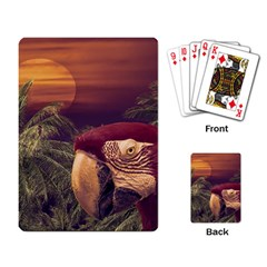 Tropical Style Collage Design Poster Playing Card